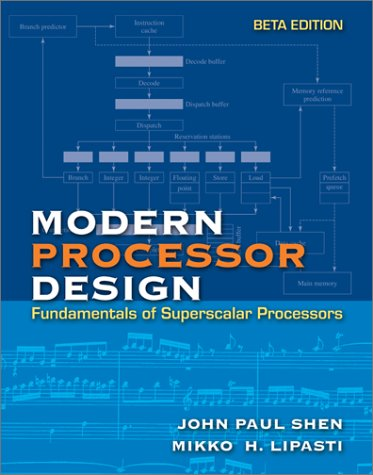 9780072829686: MODERN PROCESSOR DESIGN: Fundamentals of Superscalar Processors, Beta Edition