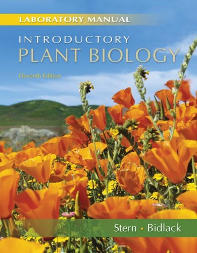 9780072830682: Laboratory Manual to accompany Stern's Introductory Plant Biology