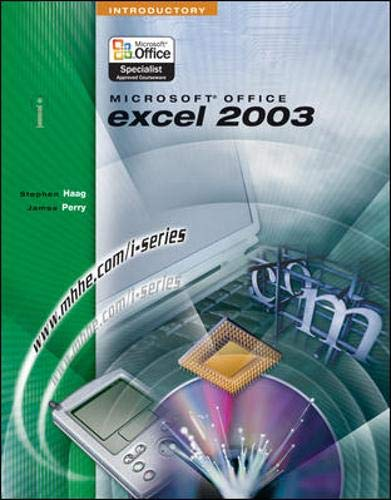 9780072830750: I-Series: Microsoft Office Excel 2003 Introductory