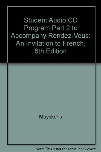 9780072831443: Student Audio CD Program Part 2 to Accompany Rendez-Vous: An Invitation to French, 6th Edition