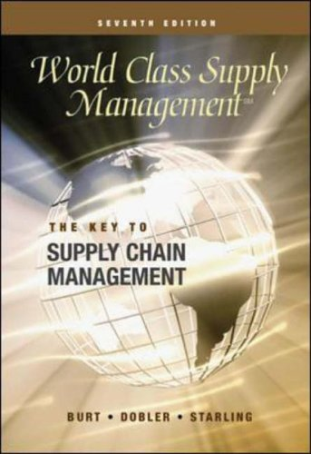 9780072831566: World Class Supply Management: The Key to Supply Chain Management with Student CD (Cases)