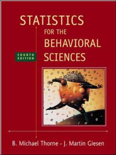 9780072832518: Statistics for the Behavioral Sciences