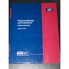 Financial Markets and Institutions: A Modern Perspective CPCU Edition (AICPCU IIA): Anthony ...