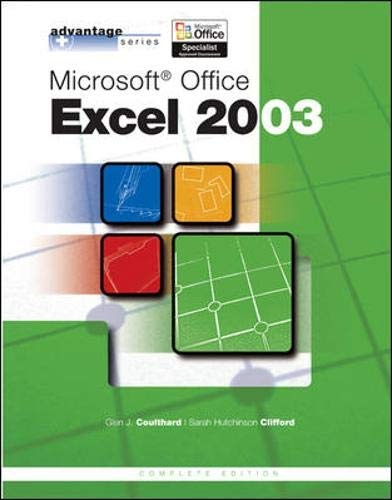 9780072834185: Advantage Series: Microsoft Office Excel 2003, Complete Edition