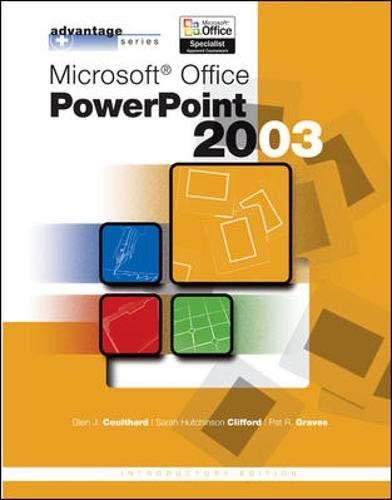 9780072834390: Advantage Series: Microsoft Office PowerPoint 2003, Intro Edition