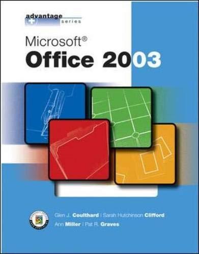 Microsoft Office 2003: Glen J. Coulthard;