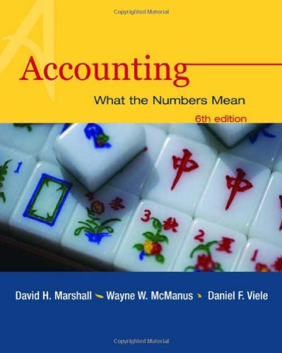 accounting what the numbers mean Complete test bank & solution manual for accounting: what the numbers mean, 9th edition, david marshall, wayne william mcmanus, daniel viele for.