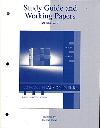 Study Guide & Working Papers for use: Joe Ben Hoyle,