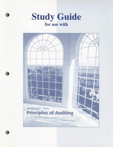 9780072835045: Study Guide for use with Principles of Auditing and Other Assurance Services