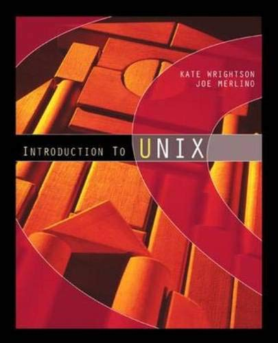 9780072836202: Introduction To UNIX