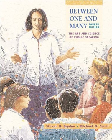 9780072836417: Between One and Many: The Art and Science of Public Speaking with Free Speech Coach Student CD-ROM