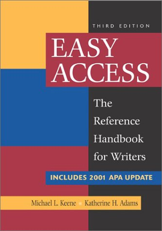 9780072836615: Easy Access with 2001 APA Update