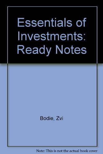 9780072837421: Ready Notes to accompany Essentials of Investments