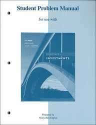 9780072837483: Student Problem Manual for use with Essentials of Investments 5th Edition
