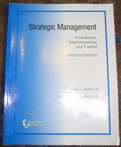 9780072837513: Strategic Management: Formulation, Implementation, and Control