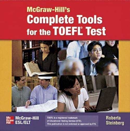 9780072837834: McGraw Hill's Complete Tools for TOEFL Test: Teacher's Handbook
