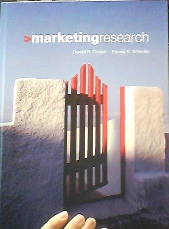 Marketing Research (McGraw-Hill/Irwin Series in Marketing): Cooper, Donald R.;