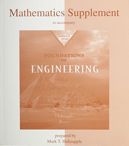 9780072837957: Mathematics Supplement to accompany Foundations of Engineering