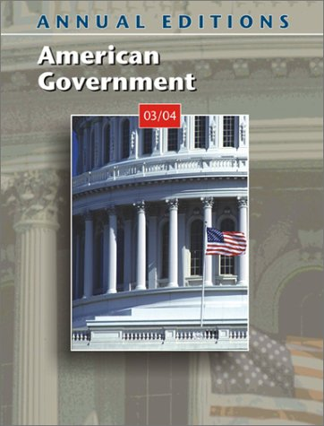 9780072838251: Annual Editions: American Government 03/04