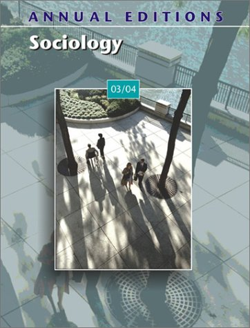 9780072838671: Annual Editions: Sociology 03/04