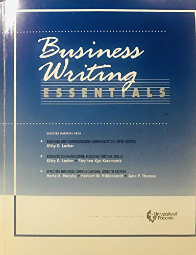 9780072839227: Business Writing Essentials