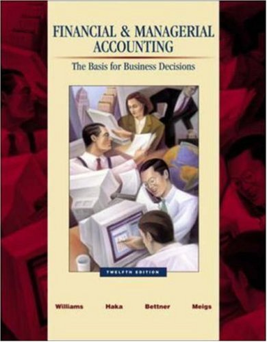 9780072839968: Financial & Managerial Accounting: A Basis for Business Decisions with Revised Student CD-ROM , NetTutor & PowerWeb Package
