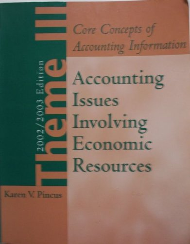 Accounting Issues Involving Economic Resources (Core Concepts of Accounting Information, 2002/...