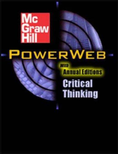 9780072840889: Critical Thinking