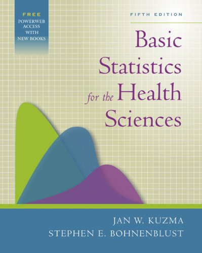 9780072844030: Basic Statistics for the Health Sciences