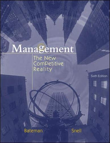9780072844498: Management: The New Competitive Landscape with CD and PowerWeb