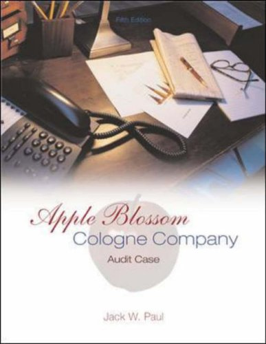 9780072844504: Apple Blossom Cologne Company: Audit Case