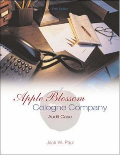 Apple Blossom Cologne Company: Audit Case: Paul, Jack