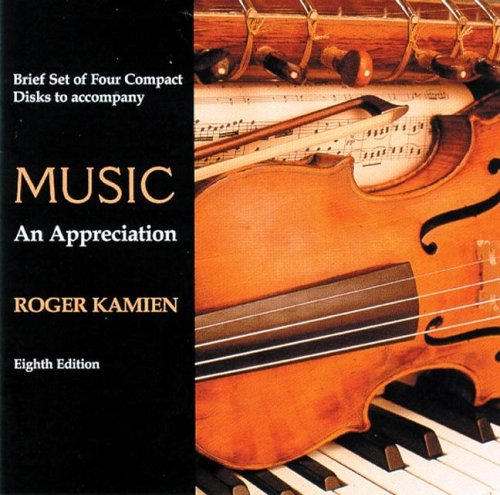 9780072844894: 4 CD Brief set for use with Music: An Appreciation