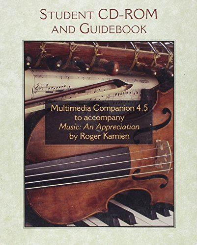 9780072844900: Multimedia Companion 4.5 to accompany Music: An Appreciation
