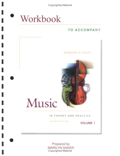 9780072845419: Workbook to Accompany Music in Theory and Practice, Vol. 1 (Book & CD-ROM)