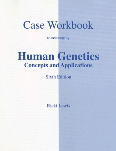 9780072846065: Case Studies Workbook to accompany Human Genetics