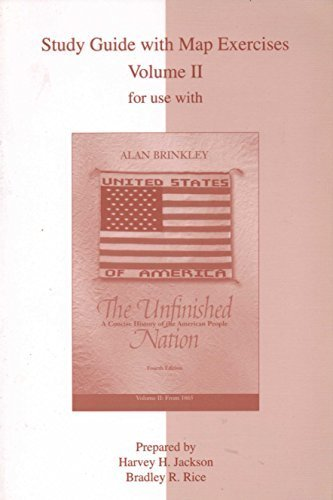 9780072846935: The Unfinished Nation, Fourth Edition, Study Guide, Vol. 2