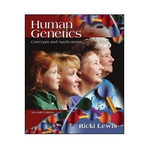 9780072848533: Human Genetics: Concepts and Applications