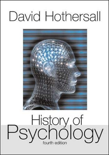 9780072849653: History of Psychology, 4th Edition (B&B Psychology)