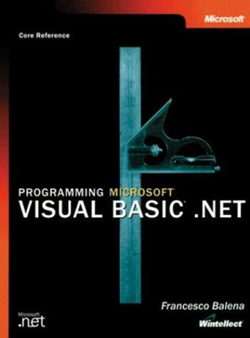 9780072850543: Programming Microsoft Visual Basic.Net