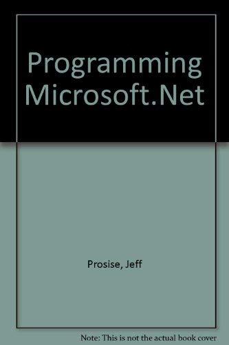 9780072850567: Programming Microsoft.Net