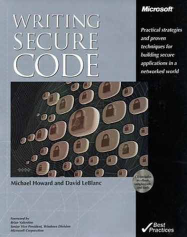 9780072851090: Writing Secure Code