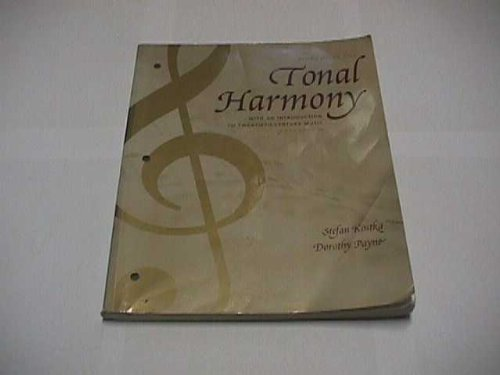 9780072852615: Workbook for Tonal Harmony: With an Introduction to Twentieth-Century Music