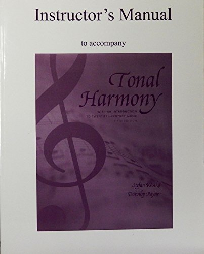 9780072852639: Instructor's Manual to Accompany Tonal Harmony