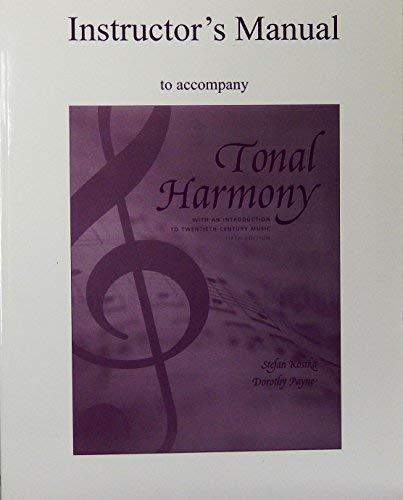 9780072852639: Instructor's Manual to Accompany Tonal Harmony