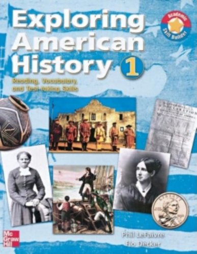 9780072854671: Exploring American History 1: Reading, Vocabulary, and Test-taking Skills  (Pre-History to 1865) (Bk. 1)
