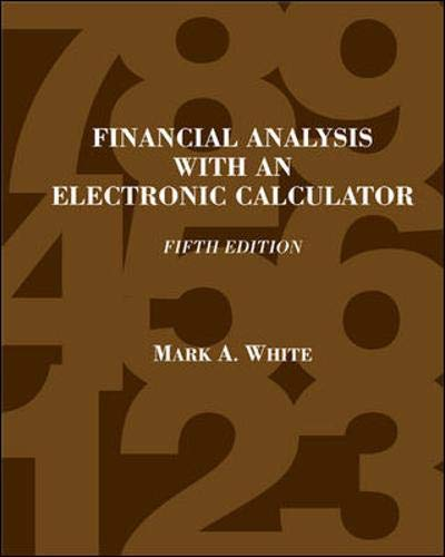 9780072855029: Financial Analysis with an Electronic Calculator
