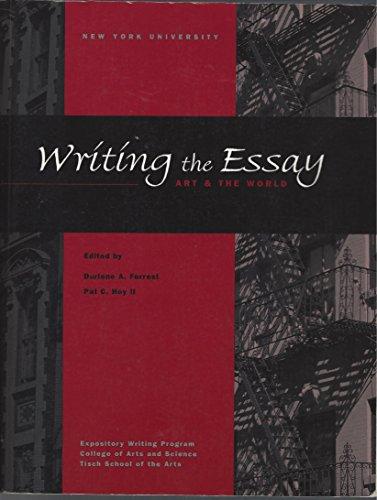 9780072855975: Writing the Essay - Art & the World