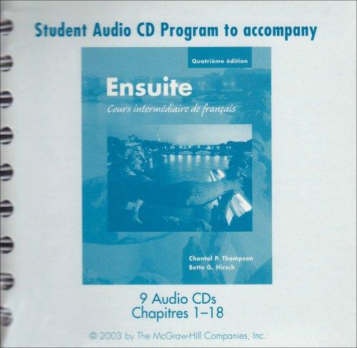 9780072856316: Student Audio CD Program to accompany Ensuite: Cours intermediaire de francais