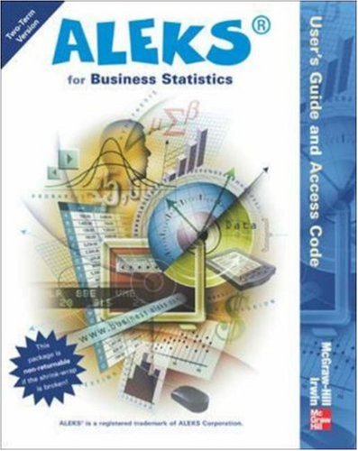 9780072857764: ALEKS for Business Statistics User's Guide and Access Code (Stand Alone for 2 semesters)